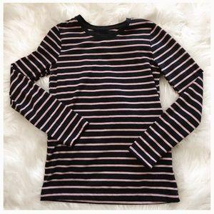 Girls striped long sleeve tee